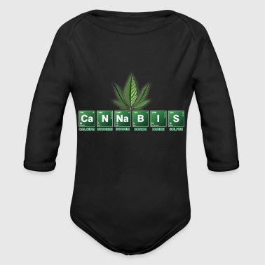 cannabis - Organic Long Sleeve Baby Bodysuit