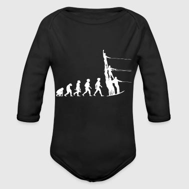 Water Sports Evolution Water Ski Water Sports - Organic Long Sleeve Baby Bodysuit