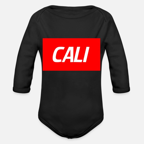 Cali Baby Clothing - CALI - Organic Long-Sleeved Baby Bodysuit black