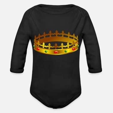 Crown crown - Organic Long-Sleeved Baby Bodysuit