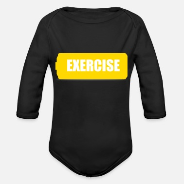 Exercise exercise - Organic Long-Sleeved Baby Bodysuit