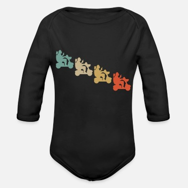 Physiotherapy Retro Vintage Style Wheelchair Driver Invalid - Organic Long Sleeve Baby Bodysuit