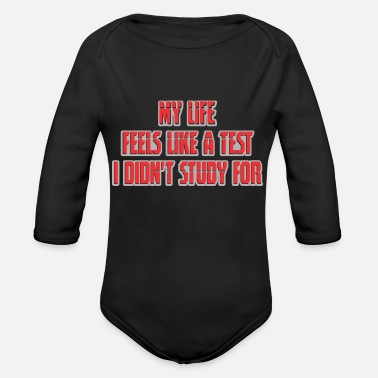Quotes Funny Quotes - Organic Long-Sleeved Baby Bodysuit