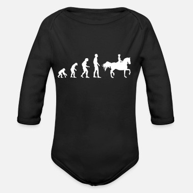 Dressage Evolution dressage - Organic Long Sleeve Baby Bodysuit