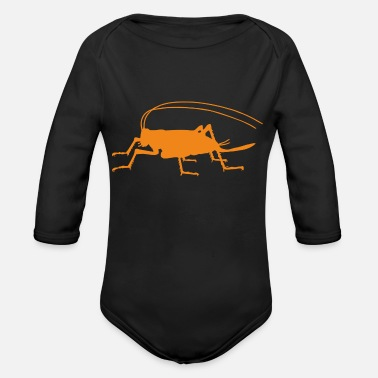 Squat squat squats - Organic Long-Sleeved Baby Bodysuit