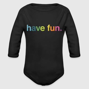 quotes - Organic Long Sleeve Baby Bodysuit