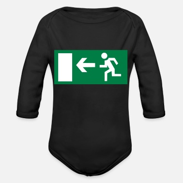 Emergency Emergency Exit - Organic Long-Sleeved Baby Bodysuit