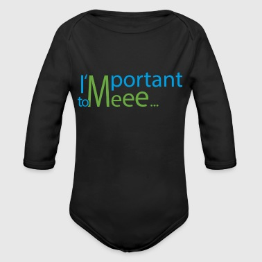 Important important - Organic Long Sleeve Baby Bodysuit
