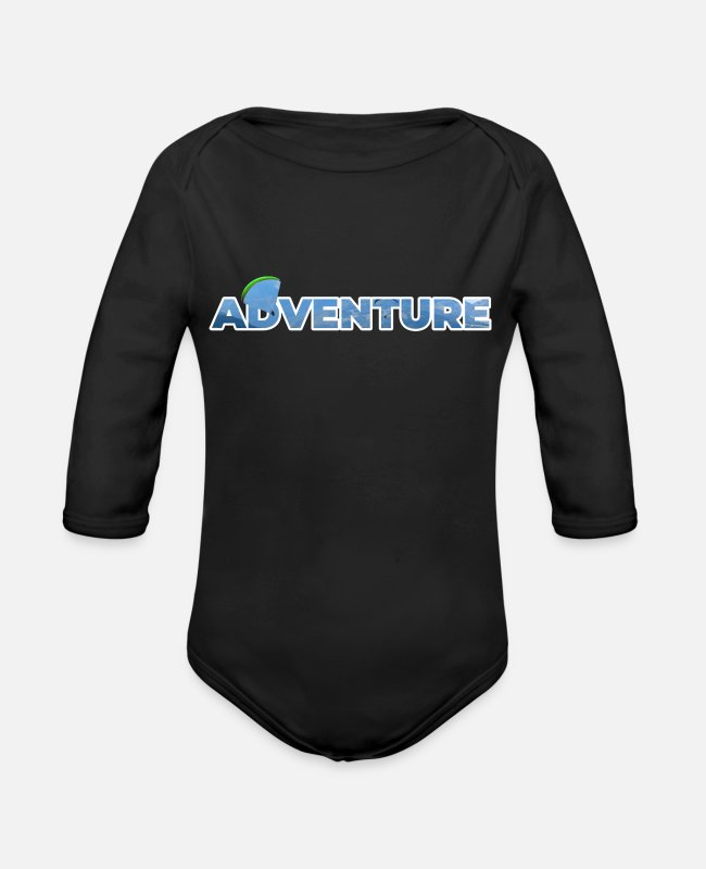 Free Fall Baby One Pieces - Adventure - Organic Long-Sleeved Baby Bodysuit black