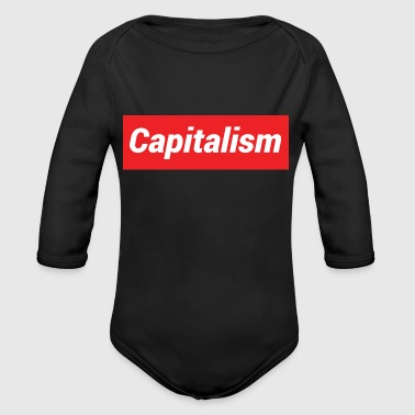 Capitalism - Organic Long Sleeve Baby Bodysuit