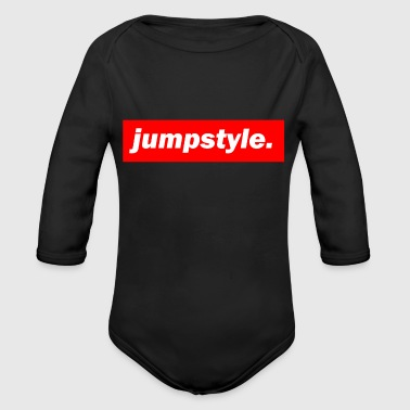 techno mischpult red bass bpm jumpstyle - Organic Long Sleeve Baby Bodysuit