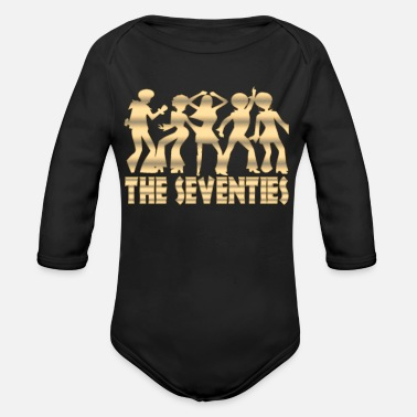 70s 70 Years 70s Disco Theme Party 70s - Organic Long-Sleeved Baby Bodysuit