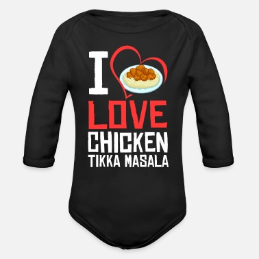 Curry Chicken Tikka Masala Gift Indian Food - Organic Long-Sleeved Baby Bodysuit