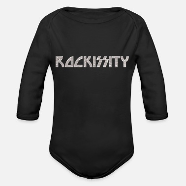 Band ROCKISSITY: Rock the City in Bling - Organic Long Sleeve Baby Bodysuit