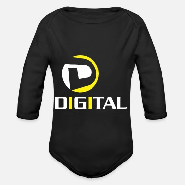 Digital Digital - Organic Long-Sleeved Baby Bodysuit