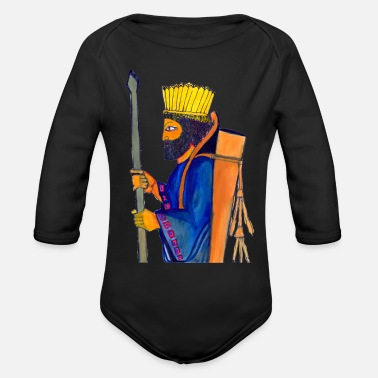 Persian History A Persian Guard watercolor painting - Organic Long-Sleeved Baby Bodysuit