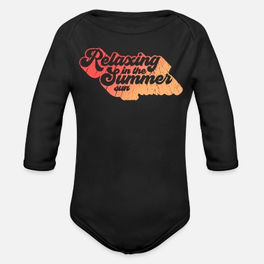 Relax relax - Organic Long-Sleeved Baby Bodysuit