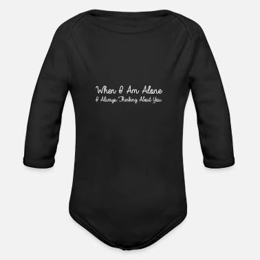 Alone be alone - Organic Long-Sleeved Baby Bodysuit
