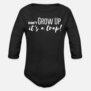 Boy Life is a trap - Organic Long-Sleeved Baby Bodysuit