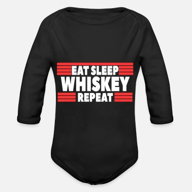 Whiskey Whiskey alcohol - Organic Long Sleeve Baby Bodysuit