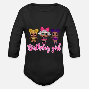 Surprise LOL Surprise Birthday Girl Tshirt - Organic Long-Sleeved Baby Bodysuit