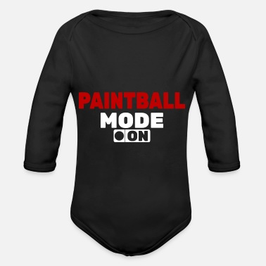 Modus Paintball Modus an - Organic Long-Sleeved Baby Bodysuit