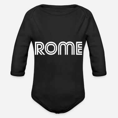 Meal typo rome 2 - Organic Long-Sleeved Baby Bodysuit