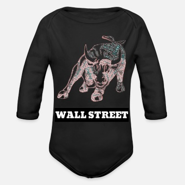 Street Wall Street - Organic Long-Sleeved Baby Bodysuit