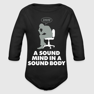 A Healthy Mind In A Healthy Body - Organic Long Sleeve Baby Bodysuit