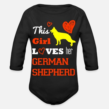 German Shepherd German shepherd - Organic Long Sleeve Baby Bodysuit