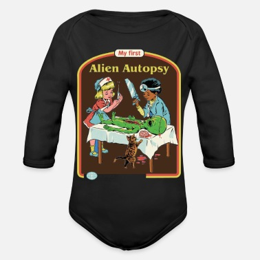 Smiffys my first alien autopsy - Organic Long-Sleeved Baby Bodysuit