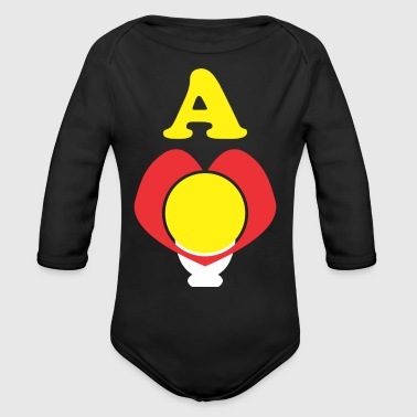 A Bright Heart - Organic Long Sleeve Baby Bodysuit