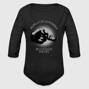 Papa & Grandson Best Friends For Life - Organic Long Sleeve Baby Bodysuit