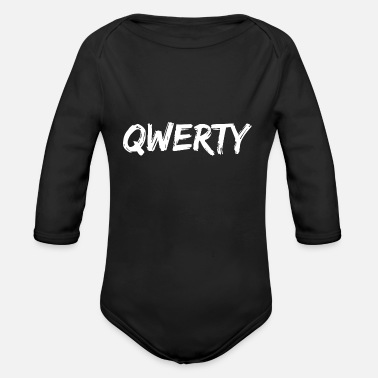 QWERTY This Is The Second Most Favorite Of All My - Organic Long-Sleeved Baby Bodysuit