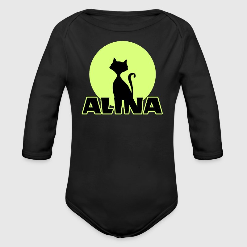 Alina first name birthday gift. - Organic Long Sleeve Baby Bodysuit