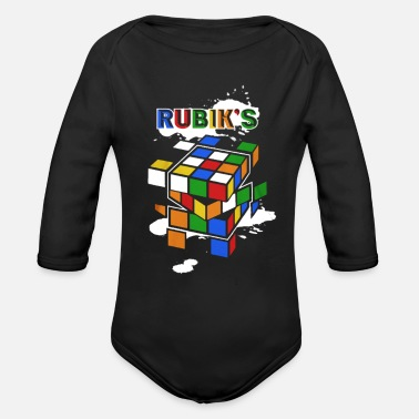 Cube RUBIK`S - Organic Long-Sleeved Baby Bodysuit