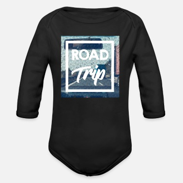 Trip Road Trip - Organic Long Sleeve Baby Bodysuit