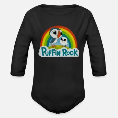 Rock Puffin Rock - Organic Long-Sleeved Baby Bodysuit