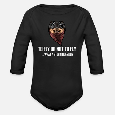 Flying to fly or not to fly - Organic Long-Sleeved Baby Bodysuit