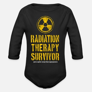 Radiation Survivor Radiation Therapy Survivor - Organic Long-Sleeved Baby Bodysuit