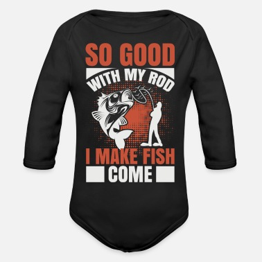 Fisherman Fishing sport fisherman funny sayings - Organic Long-Sleeved Baby Bodysuit