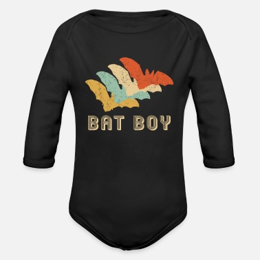 Bats Bat Bats Retro Bat Boy Bats Gift - Organic Long-Sleeved Baby Bodysuit