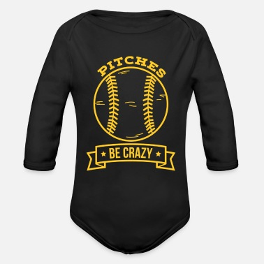 Pitch Pitches be crazy - Organic Long Sleeve Baby Bodysuit