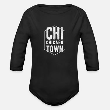 Windy City Chicago Classic Home City Throwback Pride Novelty - Organic Long Sleeve Baby Bodysuit
