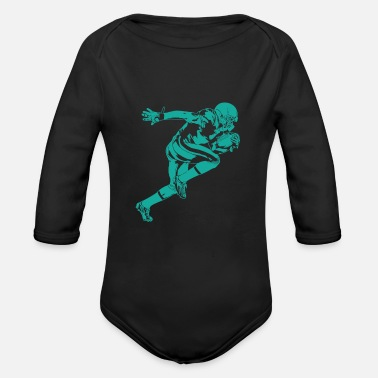 Quaterback Football player Quaterback - Organic Long-Sleeved Baby Bodysuit