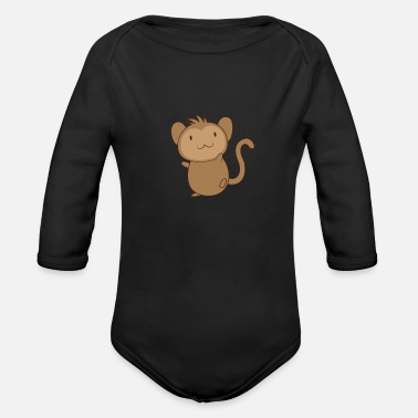Chimpanzee Baby monkey - Organic Long-Sleeved Baby Bodysuit