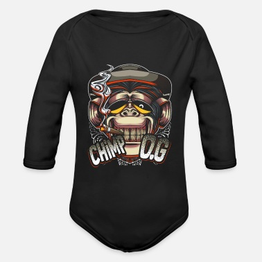 Chimpanzee Chimpanzee - Organic Long-Sleeved Baby Bodysuit