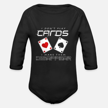 Poker poker - Organic Long-Sleeved Baby Bodysuit