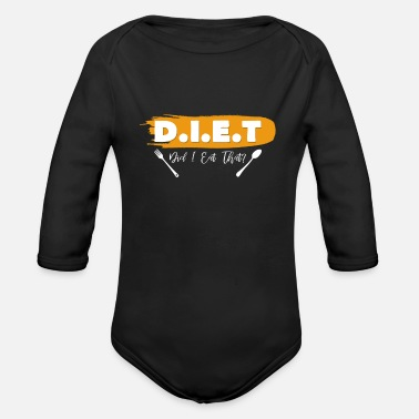 Diet Diet - Organic Long-Sleeved Baby Bodysuit