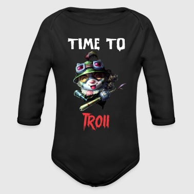 Funny league of legends Teemo - Organic Long Sleeve Baby Bodysuit